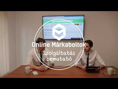Online Márkaboltok - Termékvideó