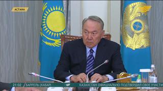 Н.Назарбаев провел встречу с председателем правления холдингa «Байтерек» Е.Досаевым