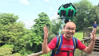 Trying out Google's heavy Street View Trekker backpack