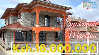 Touring a 4 BEDROOM MEGA MANSION in Syokimau (Mombasa road) For $180,000 ONLY -Very Cosy