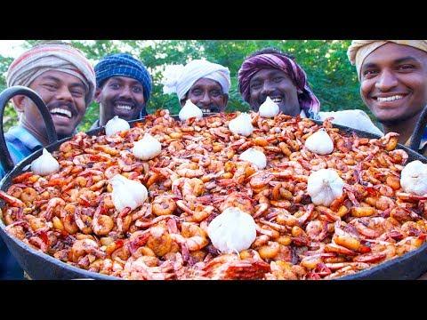 PRAWNS GARLIC Fry Recipe | Prawns Garlic Stir Fry | Cooking Shrimp with Garlic | Village Cooking