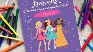 Đồ chơi dán hình trang điểm váy đầm búp bê - Tập 2 Tiệc dạ hội - Sticker dolly dressing (Chim Xinh)