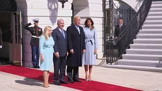 President Trump and First Lady Melania Trump Welcome PM Netanyahu and Mrs. Netanyahu
