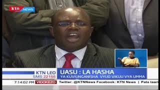 UASU imepinga utekelezaji wa mabadiliko katika utaratibu wa mafunzo na usimamizi wa vyuo vikuu