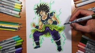 Drawing BROLY From the Upcoming Dragon Ball Super Movie - Broly!