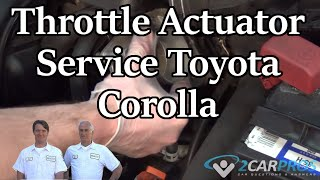 Throttle Actuator Service Toyota Corolla 2000