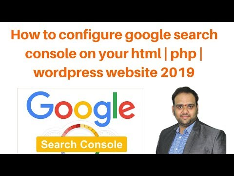 How to configure google search console on your html  php  wordpress website 2019