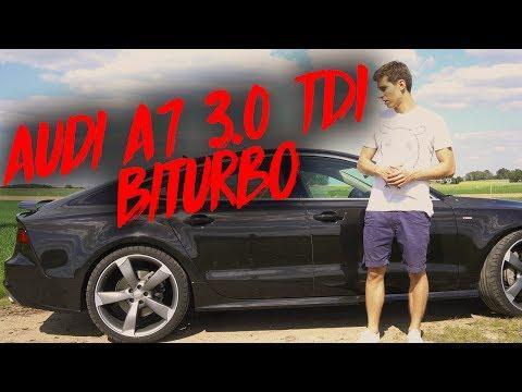 Audi A7 3.0 TDI Biturbo Test deutsch 0-100 Sound