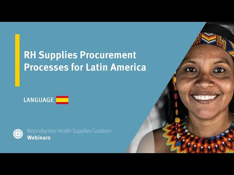 RH Supplies Procurement Processes for Latin America