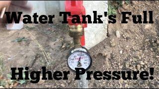 Water Tank Is Full, Pressure