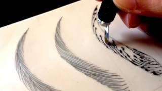 Смотреть онлайн Как правильно нарисовать брови волосковым методом