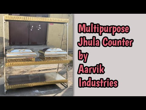 Multipurpose Jhula Which Can We Use As Chat Counter, Food Counter, Plate Counter, & Buffet Table