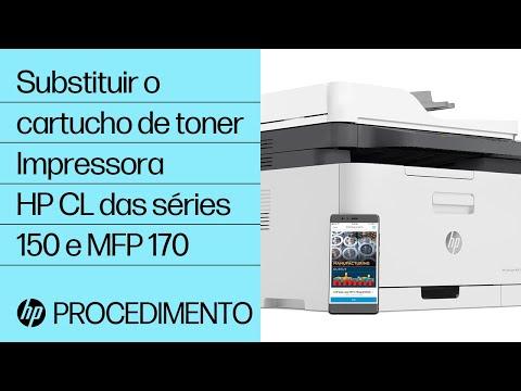 Substituir o cartucho de toner | Impressora HP Color Laser das séries 150 e MFP 170 | HP