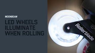 Rollerblade Moonbeam LED Wheels 4-pack