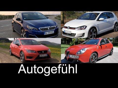 Best HotHatch comparison test Volkswagen Golf GTI vs Seat Leon Cupra Peugeot 308GT Alfa Giulietta QV