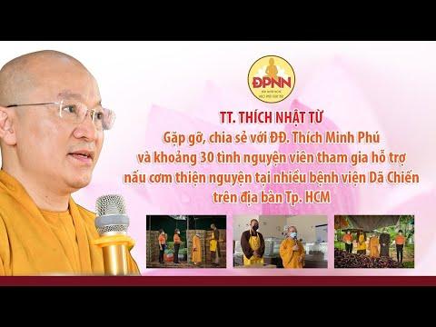 TT. Nhật Từ đi thăm bếp cơm thiện nguyện của ĐĐ. Minh Phú