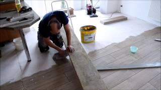 Projekt Küche renovieren Teil 11 Fliesen legen
