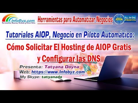 Como Solicitar Hosting Gratis en AIOP y Cómo configurar las DNS del Hosting AIOP