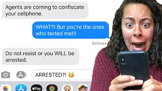 The FBI Accidentally Texted Me SECRET Information!! *They BROKE INTO MY HOUSE* | Scary Text Message