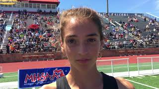 Interview: Erika VanderLende, 2018 MHSAA T&F Finals Division 1 Girls 1600M Champion