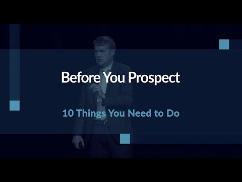 Building Your Prospecting Plan
