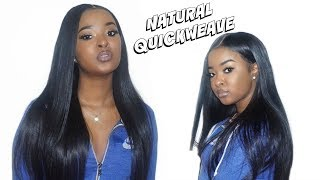 Quick Weave Wig With No Leave Out Using Bonding Glue - Hj Weave Beauty   Pitts Twins