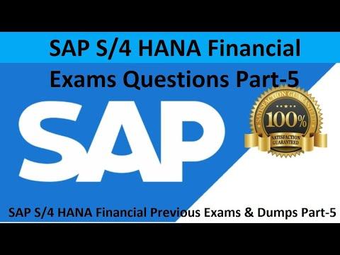 5. SAP S4 HANA Financial Previous Exams & Dumps Part 5 ...