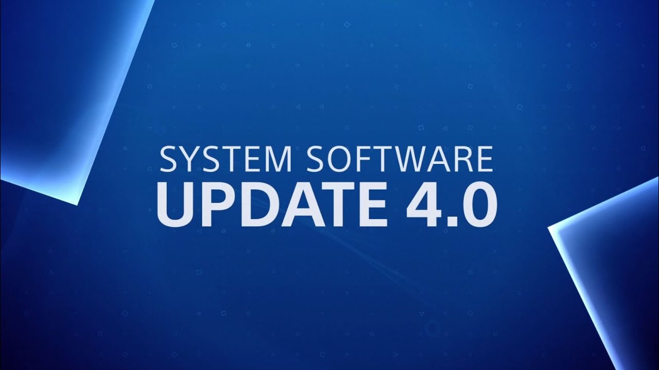 PS4 System Software update 4.00 out tomorrow