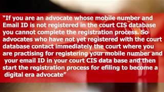 English – How to register as an Advocate in e filing website of High Courts and District Courts of India;?>