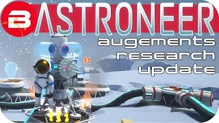 Astroneer Gameplay - MOON BASE TRADING •AUGMENT & RESEARCH CURVE UPDATE• Lets Play Astroneer #8