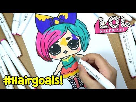 LOL #Hairgoals Makeover Sürpriz Bebeği Çizimi ve Boyama   Banggood Boyaları   Zep'in Oyuncakları
