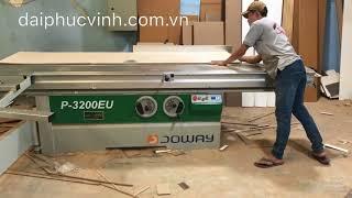 Video MÁY CƯA BÀN TRƯỢT 2 LƯỠI ĐÀI LOAN JOWAY P-3200EU