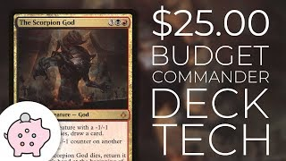 The Scorpion God | EDH Budget Deck Tech $25 | -1/-1 Counters | Magic the Gathering | Commander