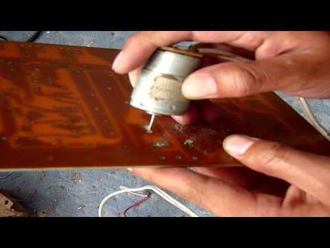 Como Hacer un Mini Taladro para Circuitos Impresos  (muy fácil de hacer)