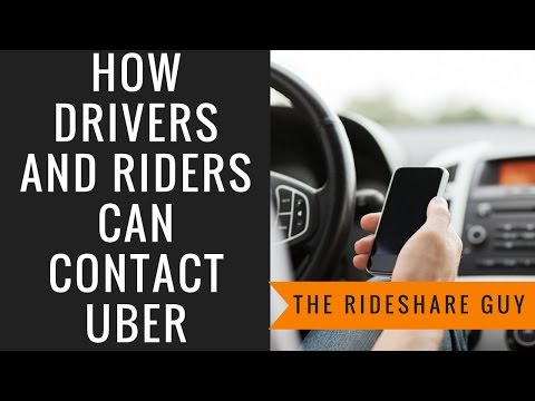 How Drivers and Riders Can Contact Uber