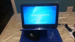 """DBPOWER Portable DVD Player with Swivel Screen 10.5"""""""