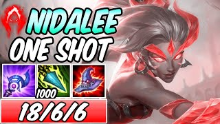 S+ NIDALEE MID ONE-SHOT SPEARS FULL AP DARK HARVEST 797 AP | New Build & Runes | League of Legends