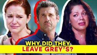 Greys Anatomy: The Real Reasons Why Main Characters Left| ⭐OSSA