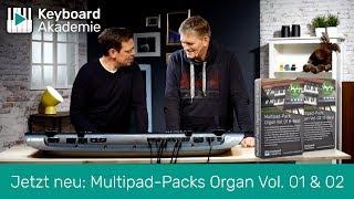 Jetzt neu: Multipad-Packs Organ Vol. 01 & 02