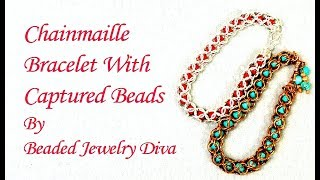 Beaded Chainmaille Bracelet - Beaded Chain Maille Tutorial