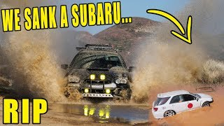 DESTROYING SUBARU FIRST DAY BACK ON ROAD w OFF-ROAD GYMKHANA RALLY