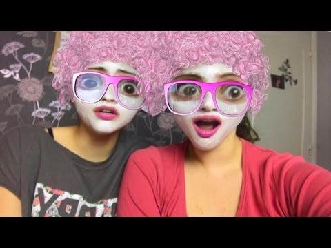 Snapchat challenge - Mi smo babe sa maskama i roze loknama