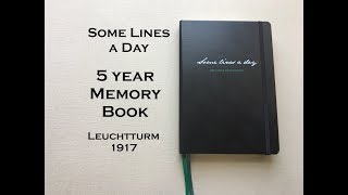Some Lines A Day - 5 year Memory Book- Leuchtturm 1917