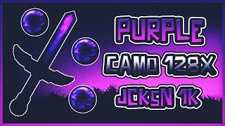 ❌MINECRAFT PVP TEXTURE PACK - PURPLE CAMO 128X JCKSN 1K (FPS)❌