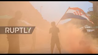 Croatia: Ultra-nationalists fly Nazi salute at Victory Day festivities in Knin