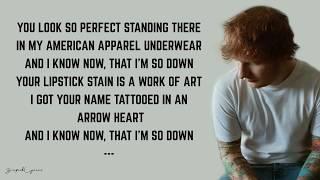Ed Sheeran - She Looks So Perfect (Lyrics)