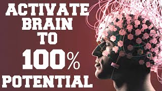 *WARNING*  ACTIVATE BRAIN TO 100% POTENTIAL WITH  SUBLIMINAL ENERGIES : VERY POWERFUL