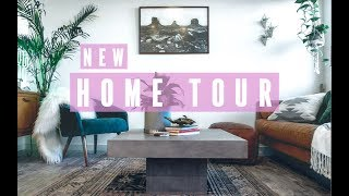 New Home Tour! Mid Century Modern Decor. (Kitchen, Living Room, Dining Room)