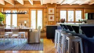 Makeover: An '80s Log Cabin Gets A Fresh New Look