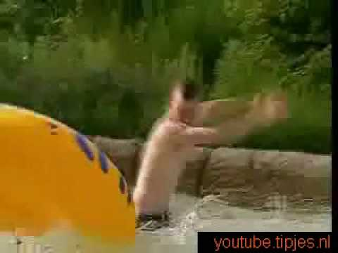 Humor video E-cards, Man is peeing in waterpark at least it looks like that funny humor
